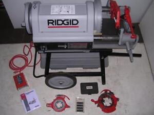 Ridgid 1224 Pipe Threader 1 2 4 Lightly Used 2 Die Heads 711 714 To 6 W 161