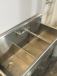 3 Three Compartment Commercial Stainless Steel Sink