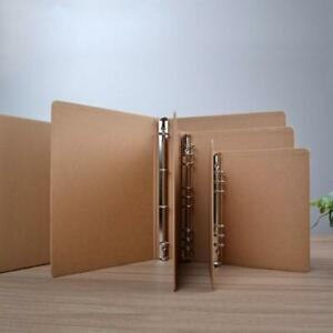 A4 Kraft Folder Documents 4 Rings Kraft Binder With Slip Case Box Office School