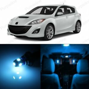 12 X Ice Blue Led Interior Lights Package For 2010 2018 Mazda 3 Ms3 Pry Tool