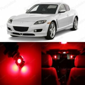 10 X Red Led Interior Lights Package For 2004 2011 Mazda Rx 8 Rx8 Pry Tool