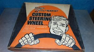 Nos Superior The 500 Custom Steering Wheel 2140 White 14 1 2 Old School Indy
