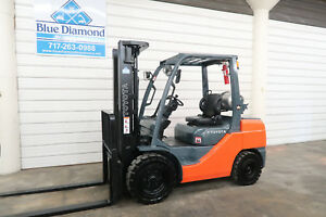 2012 Toyota 8fgu32 6 500 Pneumatic Tire Forklift Lp Gas 3 Stage S s Nice