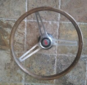 Oldsmobile Walnut Wood Steering Wheel 15 Stainless Steel Spokes