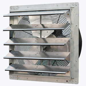 Wall mounted Shutter Exhaust Fan Variable Speed Room Air Cooling Restaurants