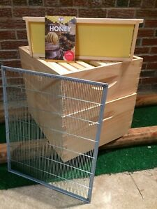 Beehive Upgrade includes Brood Box honey Super Queen Excluder hive Attic Combo