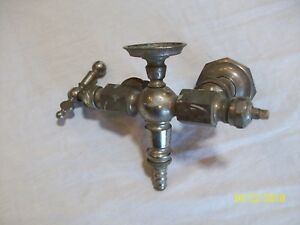 Vintage Antique Brass Clawfoot Tub Hot Cold Faucet Plumbing Fixture
