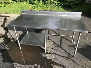 72 X 33 Heavy Duty Stainless Steel Table With Backsplash Undershelf