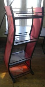 4 Shelf Display Stand Unit Steel Frame Collectibles Liquor Plants Book Retail