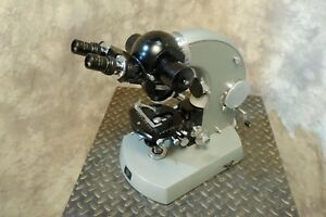 Zeiss Vintage Photomicroscope Internal Camera 4 Objectives