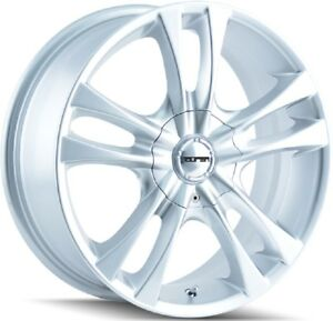 Hyper Silver Wheels 4 Lug 4x100 4x114 3 4x4 5 14x6 40mm Set Of 4 Rims 14 Inch