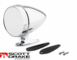 65 66 1967 1968 Mustang Chrome Bullet Mirror With Short Base And Standard Glass