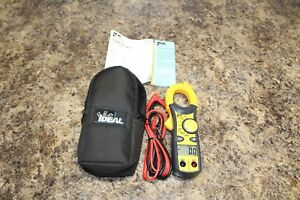 Ideal 61 744 600 Amp Clamp pro Clamp Meter With True Rms W case