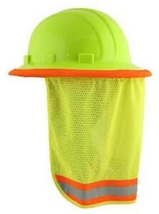 Safety Hard Hat Neck Shield Sun Shade Hi Vis Reflective Stripe 10 Pack