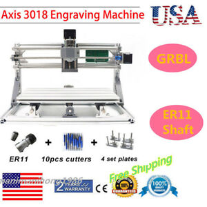 3 Axis Diy Cnc 30x18cm Router Mini Mill Wood Carving Engraving Milling Machine
