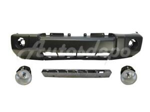 For 06 10 09 08 Jeep Commander Front Bumper Strip Chr Fog 4