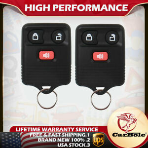 Set Of 2 Keyless Entry Remote Control Car Key Fob For Ford Expedition F 150 F350