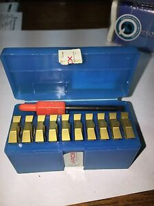 Vardex Carbide Threading Inserts Quantity 10 4uir 4abut Vkx