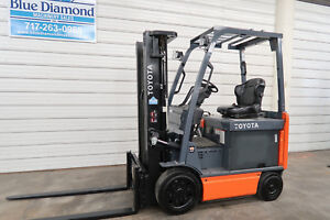 2013 Toyota 8fbcu25 5 000 Electric Forklift 3 Stage S s Only 946 Hours