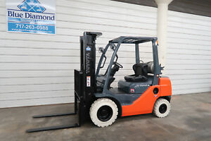 2011 Toyota 8fgu25 5 000 Pneumatic Tire Forklift Lp Gas 3 Stage S s Nice
