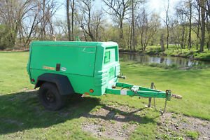 2008 Ingersoll Rand P185wjd Air Compressor 185 Cfm Towable Only 1 605 Hours