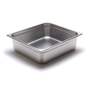 Steam Table Pan 24 Gauge Stainless Steel Two third size 4 h