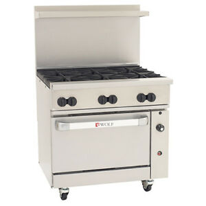 Wolf Challenger Xl Lp Gas Range 36 w 1 Bakers Oven 6 Burners