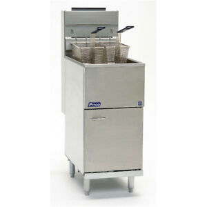 Pitco 40d Commercial Lp Gas Deep Fryer 40 45 Lb Oil Cap
