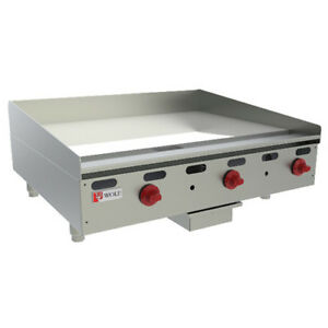 Wolf Ranges Agm24 11 Heavy Duty Natural Gas Griddle 24 w 2 Burners 54 000 Btu