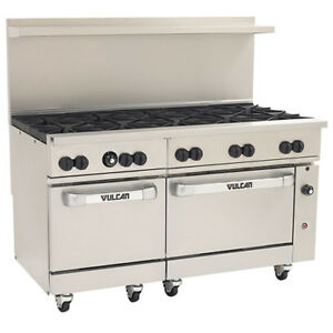 Vulcan Endurance Lp Gas Range 60 w 10 Burners 2 Std Ovens