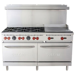 Vulcan Sx60 6b24g 60 6 Burner Lp Gas Range With 24 Griddle