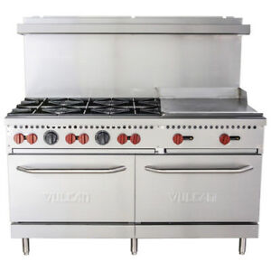 Vulcan Sx60 6b24g 60 6 Burner Natural Gas Range With 24 Griddle