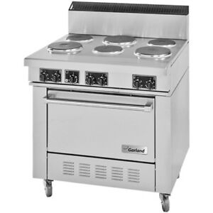 Garland Ss686 Commercial 6 Tubular Burner Electric Range 240v Three Phase