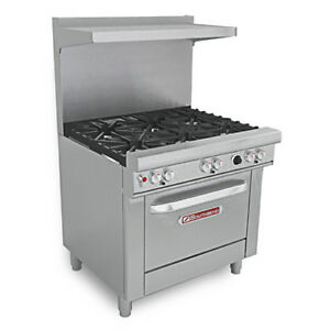 Southbend Commercial Natural Gas Range 36 w 1 Standard Oven 36 Griddle