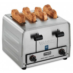 Waring Wct800 Commercial 4 Slice Toaster Four Wide Slots 120v