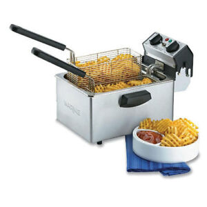 Waring Wdf75rc Countertop Fryer Electric 8 1 2 Lb Oil Cap 120v