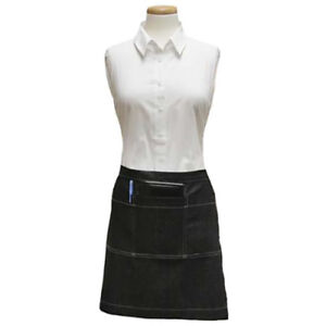 Cl3pwacelnvd Diamond Denim Waist Apron Navy