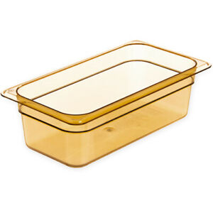 Rubbermaid Fg217p00ambr Third Size Multi use Hot Food Pan 4 Quart Amber