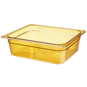 Rubbermaid Fg224p00ambr Half Size Multi use Hot Food Pan 6 3 8 Quart Amber