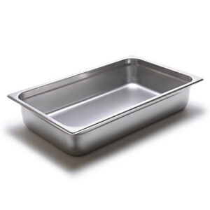 Steam Table Pan 24 Gauge Stainless Steel Full size 4 h