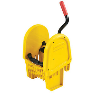 Rubbermaid Fg757588yel Down Press Wringer For Wavebrake Mop Buckets Yellow