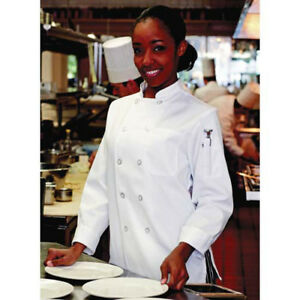 Jrc Ritz Foodservice 0475 2504 Womens Chef Coat White Size Large