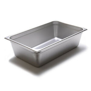 Steam Table Pan 24 Gauge Stainless Steel Full size 6 h