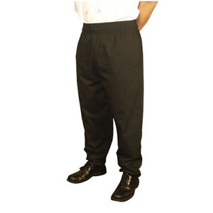 Jrc Ritz Foodservice Rzpantbksm Baggy Style Chef Pants Black Size Small
