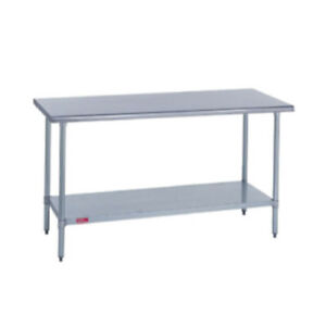 Duke 418 3096 Kitchen Work Table 96 w X 30 d X 36 h Stainless Steel Flat Top