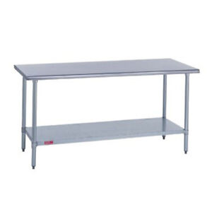 Duke 418 3072 Kitchen Work Table 72 wx30 dx36 h Stainless Steel Flat Top
