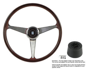 Nardi Steering Wheel Anni 60 380 Mm Wood With Hub For Mg Mgb 1977