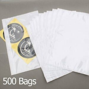 500 Pack 6 x9 Clear Adhesive Top Loading Packing List Shipping Labels Envelopes