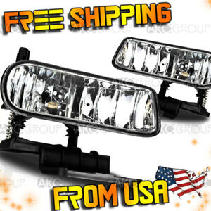Fits 2001 2002 Chevrolet Silverado 1500 Hd Clear Oe Replacement Fog Light