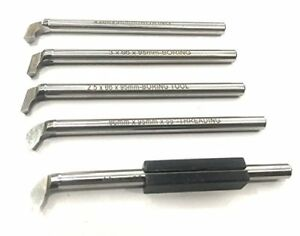 Hss Threading Boring Tool Set With Holder For Lathe Machine 6 Mm Shank